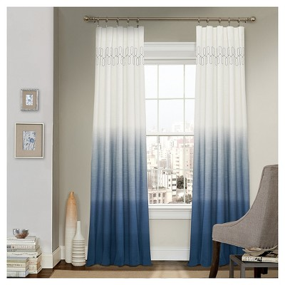 Arashi Ombre Embroidery Light Filtering Curtain Panel - Vue