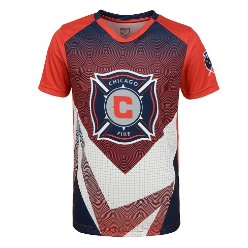 finest selection 9a2c3 516ce MLS Boys Poly Jersey Chicago Fire - L