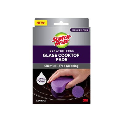 Scotch-Brite Scratch-Free Glass Cooktop Pads - 2ct