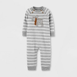 Baby Boys' Moose Striped Romper - Just One You® made by carter's Gray