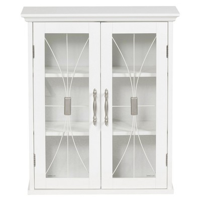 Symphony Wall Cabinet White - Elegant Home Fashions