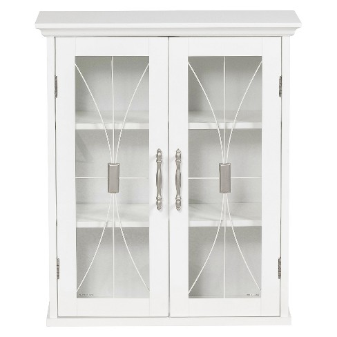 Symphony Wall Cabinet White - Elegant Home Fashions - image 1 of 4