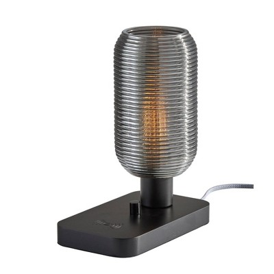 """12"""" Isaac Charge Table Lantern Black - Adesso"""