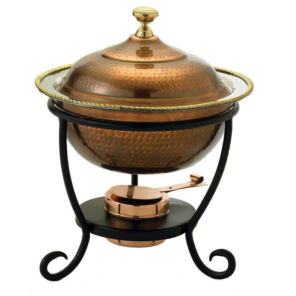 Image of Old Dutch 3qt Stainless Steel Antique Chafing Dish Copper
