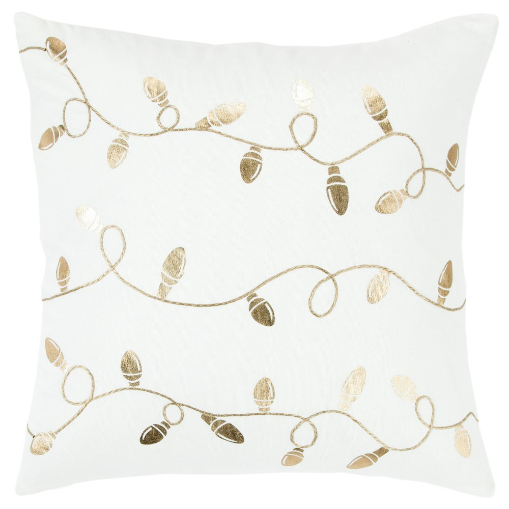 Light Strand Decorative Filled Oversize Square Throw Pillow Gold - Rizzy Home