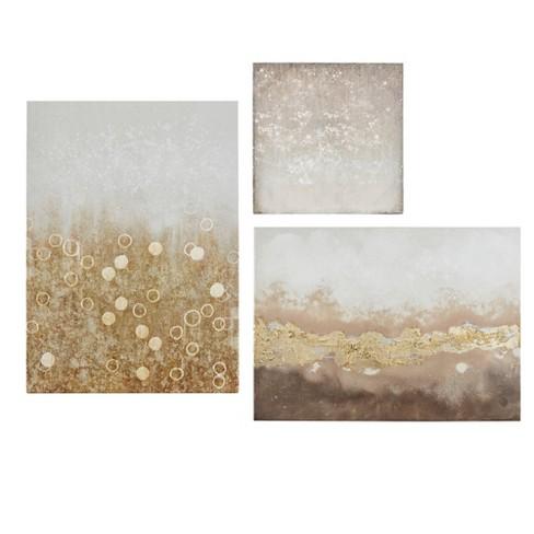 3pc Radiant Impression Hand Embellished Canvas - image 1 of 4