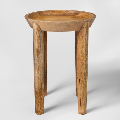 Carved Wood Accent Table - Threshold™