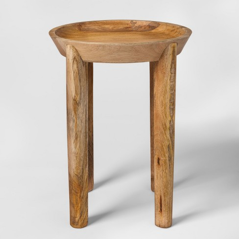 Carved Wood Accent Table Threshold