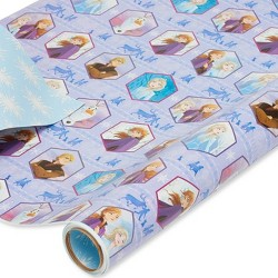 75 sq ft Disney's Frozen Gift Wrap - American Greetings