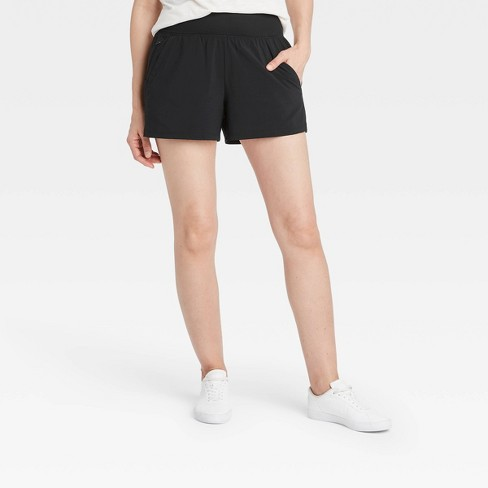 Women's Knit Waist High-Rise Stretch Woven Shorts - All in Motion™ - image 1 of 4