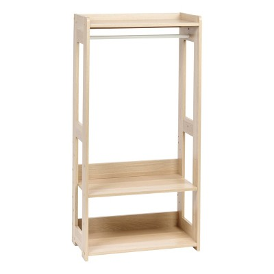 IRIS Compact Wood Garment Rack Natural