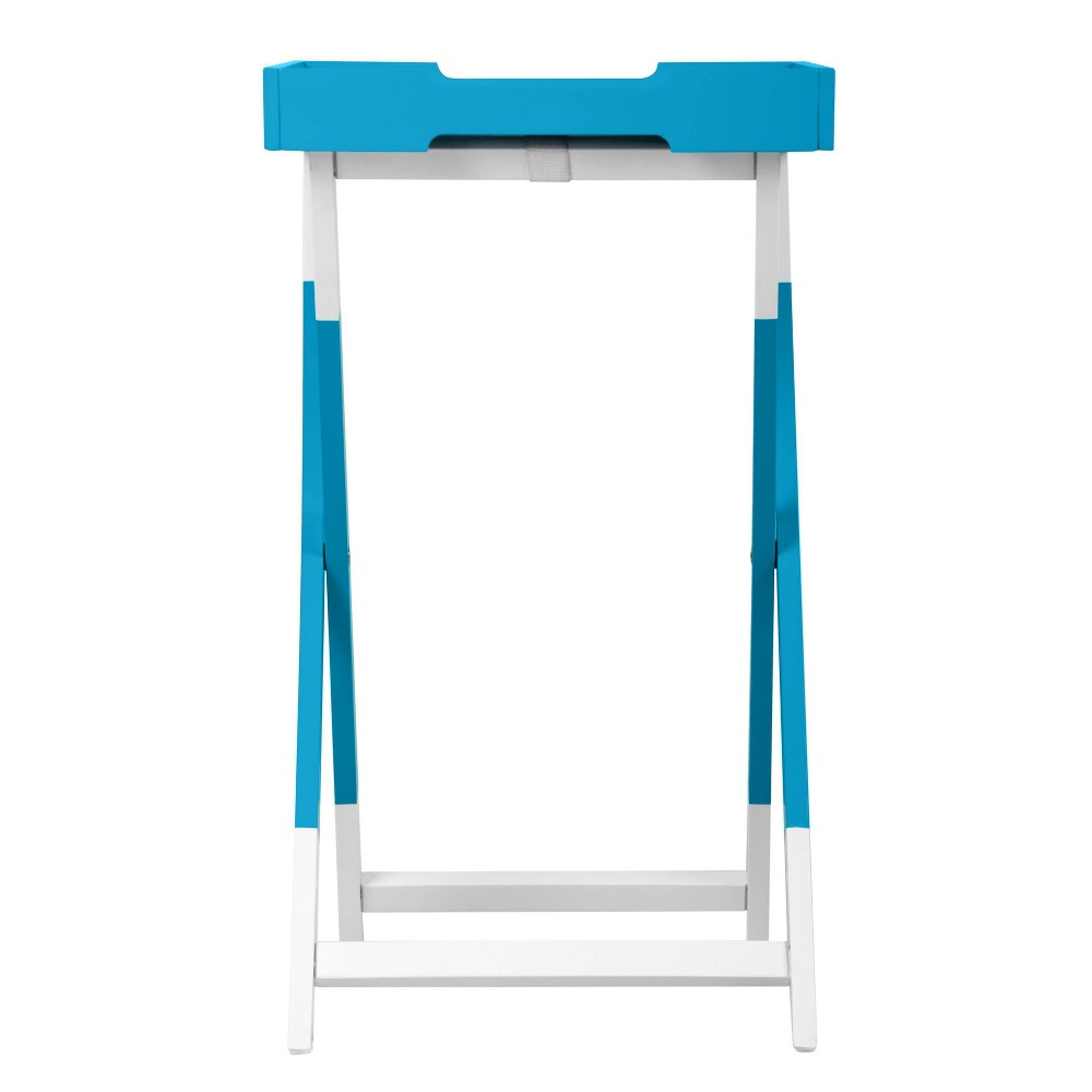Image of Pantone Color Collection Folding Tray Side Table Hawaiian Ocean - Pantone, Hawaiian Blue