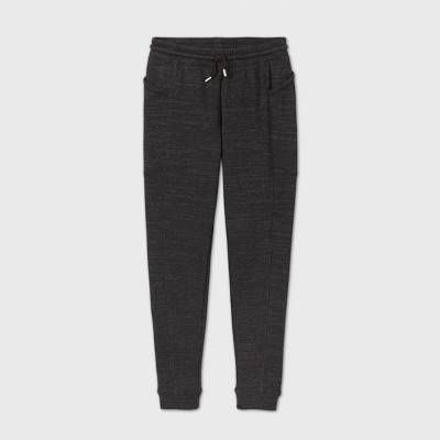 Girls' Shine Stripe Cozy Fleece Jogger Pants - All in Motion™