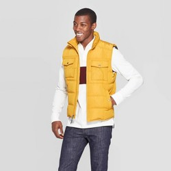 Men's Standard Fit Sleeveless Quilted Midweight Vest - Goodfellow & Co™ Gold