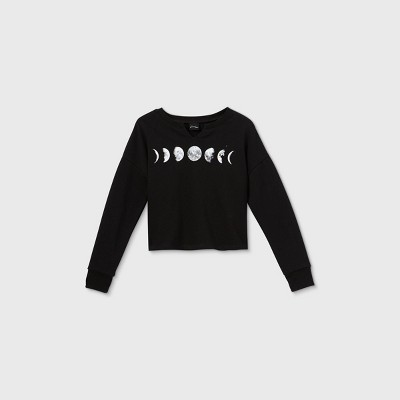 Girls' Notch Neck Graphic Sweatshirt - art class™
