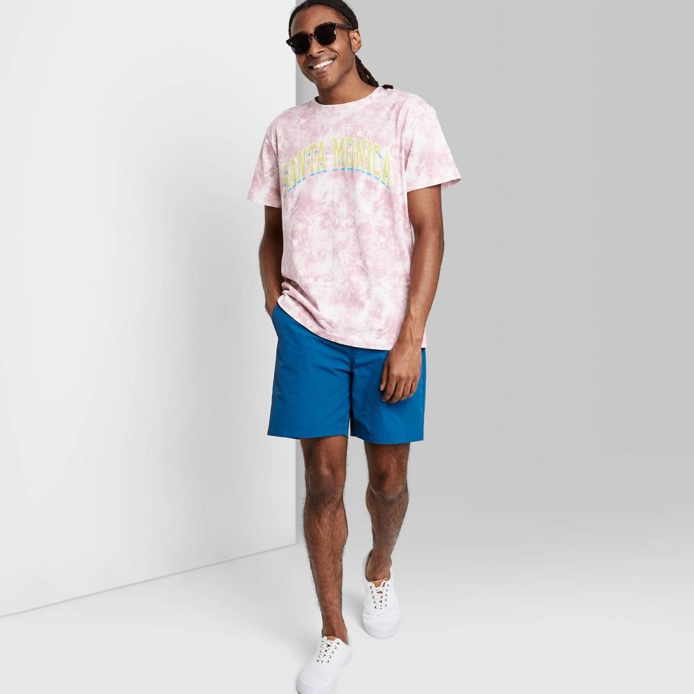 Men 39 S Regular Fit 6 5 34 Mid Rise Woven Jogger Shorts Original Use 8482 Blue Lake Xs