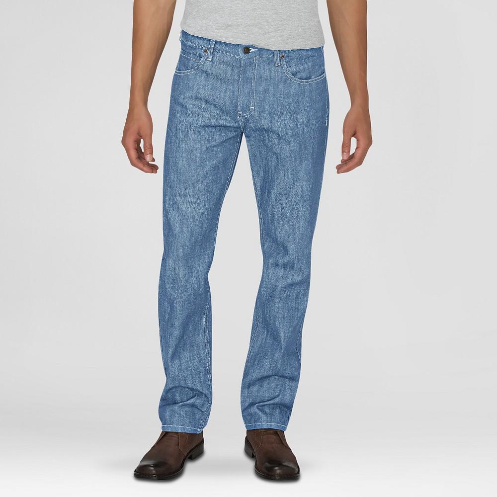 Dickies Men's Regular Fit Straight Leg 5-Pocket Pants W/Button Fly Light Indigo 38X32, Light Denim