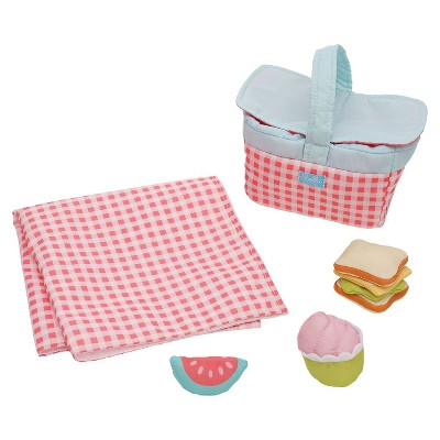 """Manhattan Toy Stella Collection Picnic 5 Piece Baby Doll Picnic Playset for 12"""" and 15"""" Stella Dolls"""