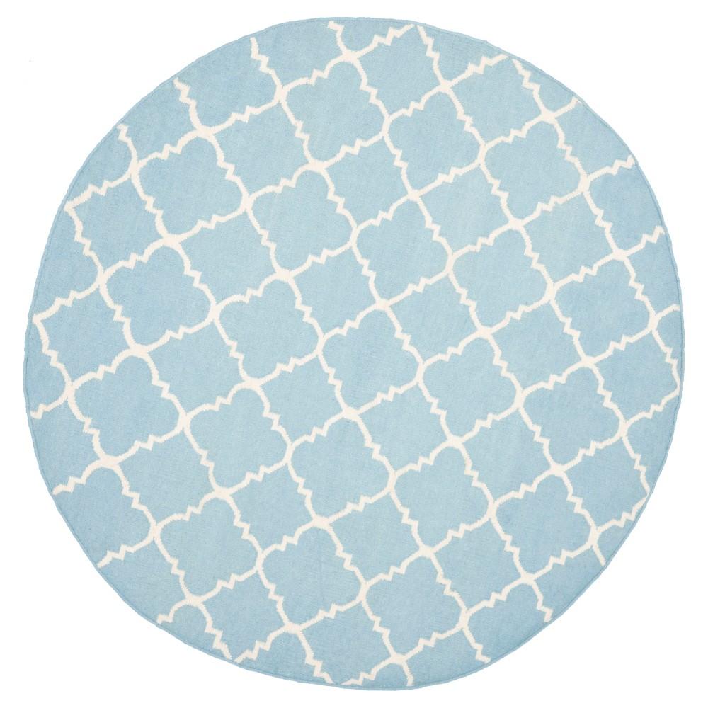 Robbie Area Rug - Light Blue / Ivory (6' Round) - Safavieh, Light Blue/Ivory