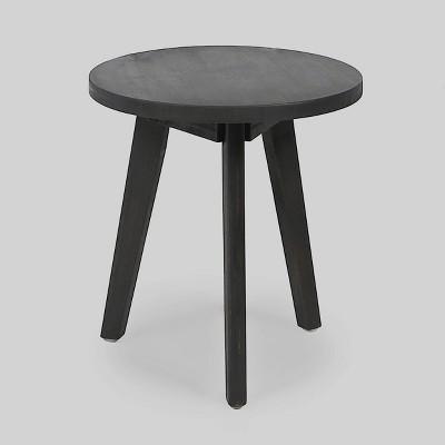 Marina Acacia Wood Patio Side Table - Dark Gray - Christopher Knight Home