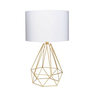 "10"" Celeste Wire Prism Silverwood Table Lamp (Includes CFL Light Bulb) Gold - Decor Therapy"