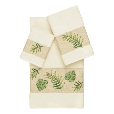 3pc Zoe Embellished Towel Set - Linum Home Textiles