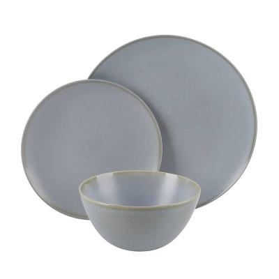 Cravings by Chrissy Teigen 12pc Stoneware Dinnerware Set - Gray