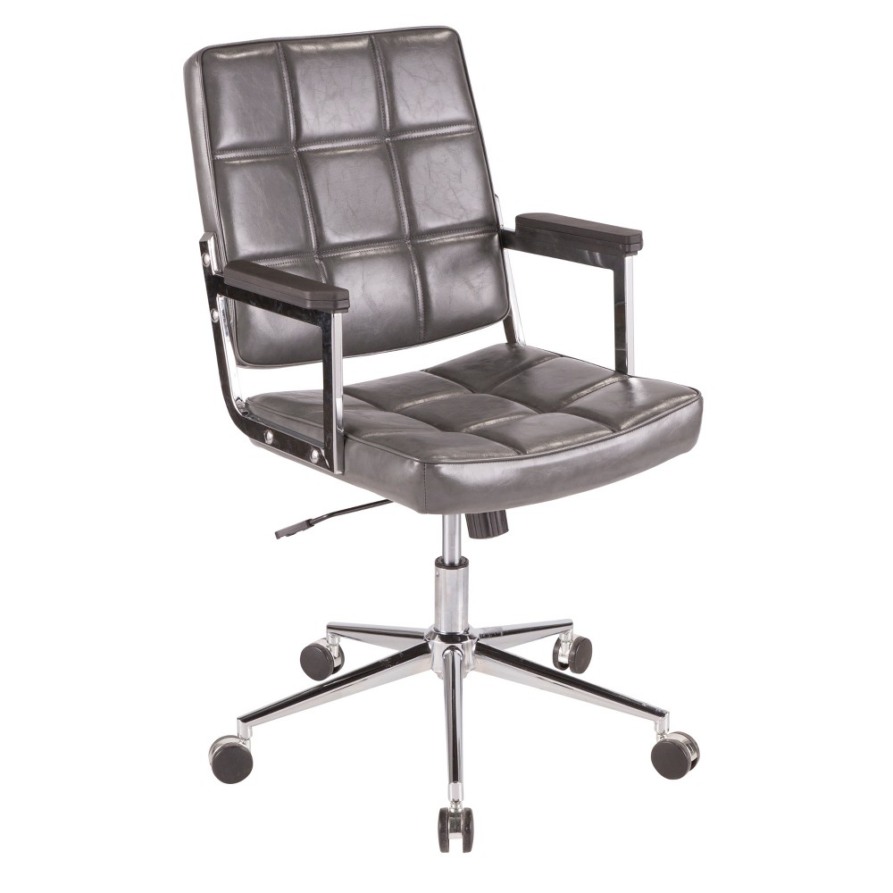 Bureau Contemporary Office Chair Gray - LumiSource
