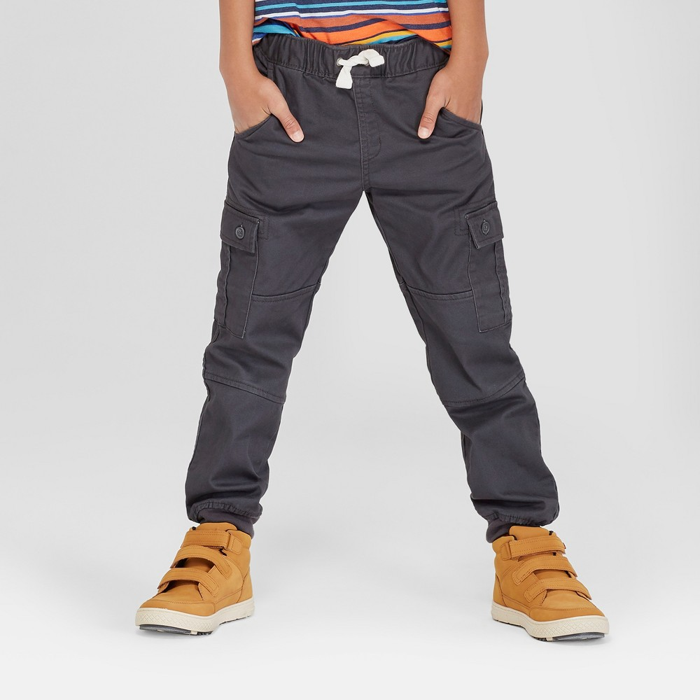 Boys' Jogger Pants - Cat & Jack Charcoal Gray 12 Husky