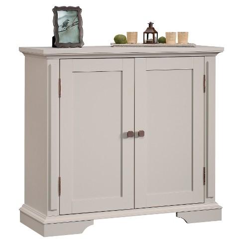 New Grange 2 Door Accent Storage Cabinet Cobblestone Sauder Target