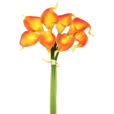 Artificial Calla Lily Bundle (14'') Orange - Vickerman