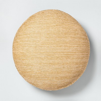 Outdoor Circle Floor Cushion Natural - Hearth & Hand™ with Magnolia