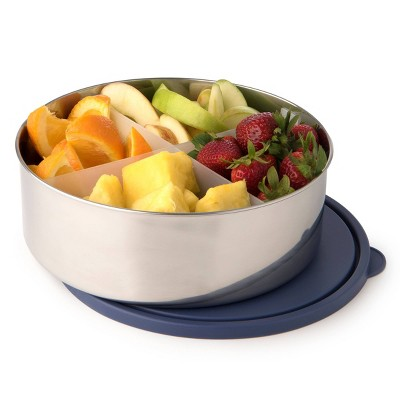 U-Konserve Big Bowl Stainless Steel Food-Storage Container Bento Round 100oz - Navy Plastic Lid