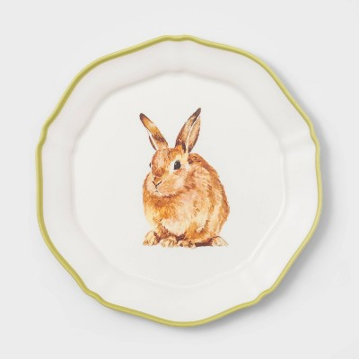 "9"" Melamine Bunny Salad Plate Green - Threshold™"