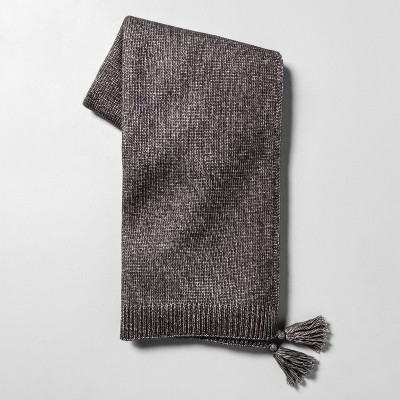 Throw Blanket with Tassels Galvanized Gray - Hearth & Hand™ with Magnolia