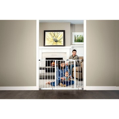 Regalo Extra Wide Easy Step Metal Walk Through Baby Gate - White