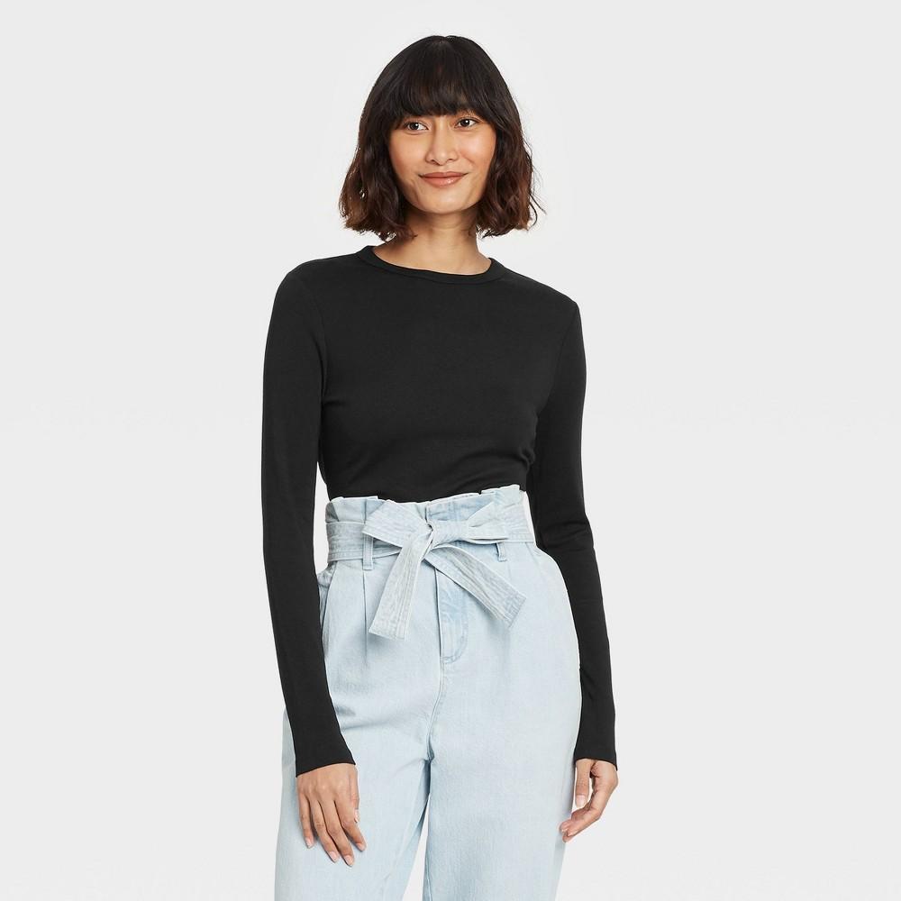 Women 39 S Long Sleeve T Shirt A New Day 8482 Black Xs
