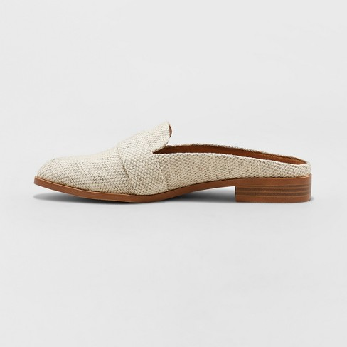 695b90e257a8 Women s Amber Wide Width Backless Loafer Mules - Universal Thread ...