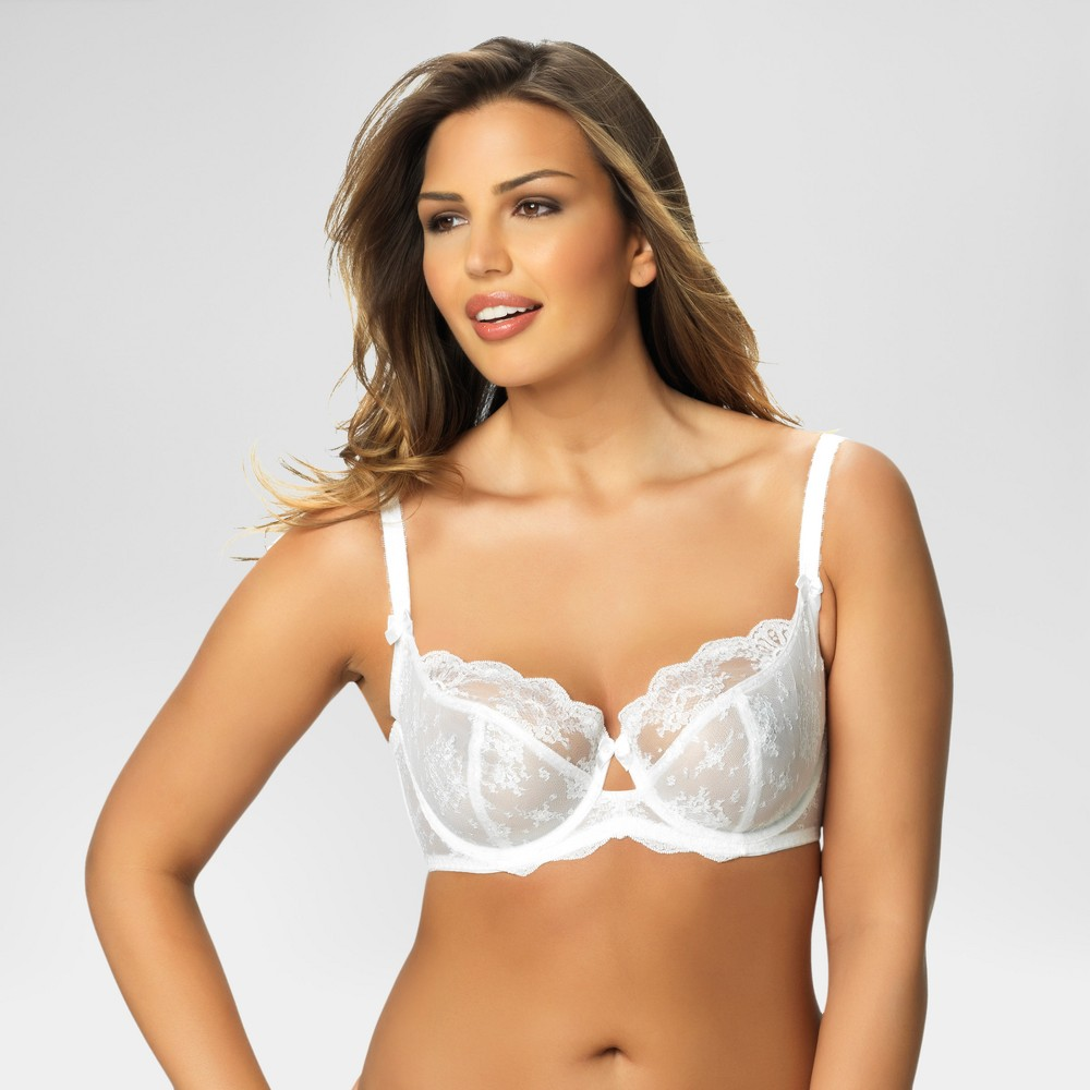 Paramour Women's Captivate Unlined Bra - White 38C
