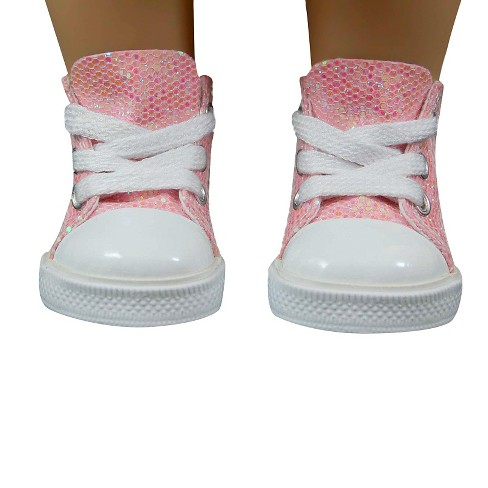 b923d7a2428f9 The Queen's Treasures® 18 Inch Doll Clothes Accessory, Pink Sparkle Sneaker  Plus Authentic Shoe Box