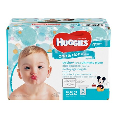 Huggies One & Done Refreshing Baby Wipes Refill - 552ct