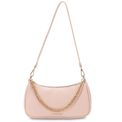 Rampage Women's Small Baguette Shoulder Bag with Chain Detail