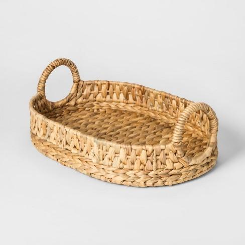 Water Hyacinth Basket Tray - Natural - Threshold™ - image 1 of 2
