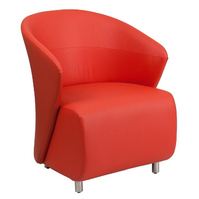 Emma and Oliver Home Office Curved Barrel Back Lounge Chair