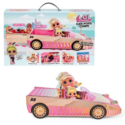 L.O.L. Surprise! Car Pool Coupe with Exclusive Doll, Surprise Pool and Dance Floor
