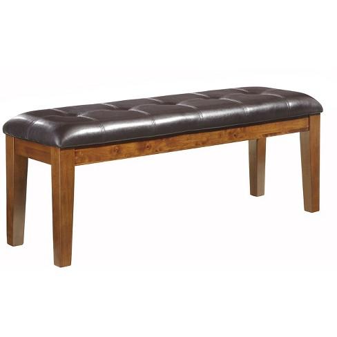 Remarkable Ralene Large Upholstered Dining Room Bench Wood Medium Brown Signature Design By Ashley Ibusinesslaw Wood Chair Design Ideas Ibusinesslaworg