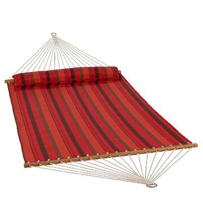 Algoma 13' Quick Dry Hammock with Pillow - Sunset Stripe