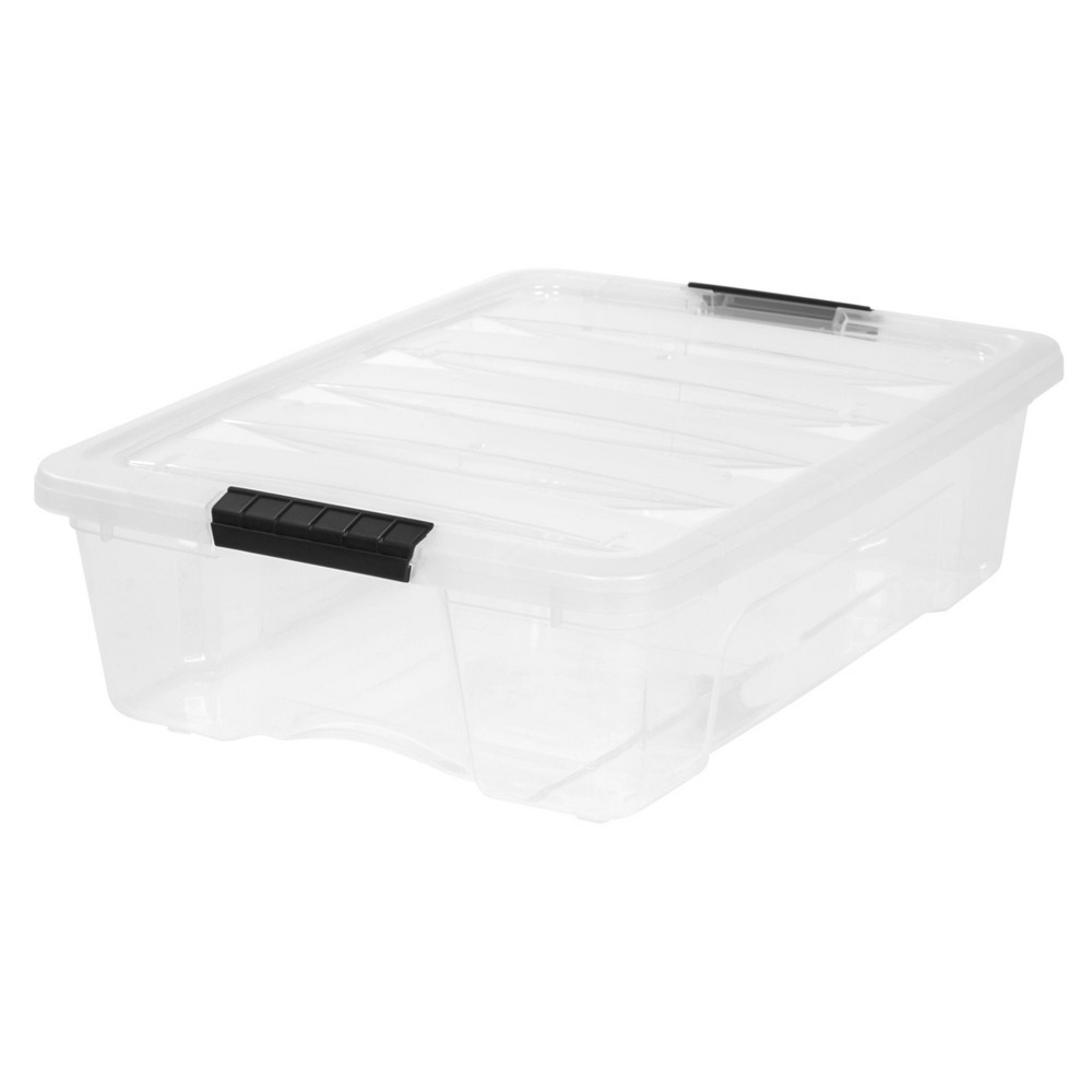 Image of IRIS 26qt Stack and Pull Box Clear
