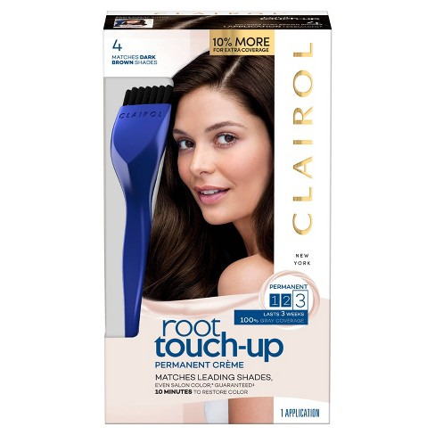 Clairol Root Touch-Up Permanent Hair Color - 4 Dark Brown - 1 kit - image 1 of 4