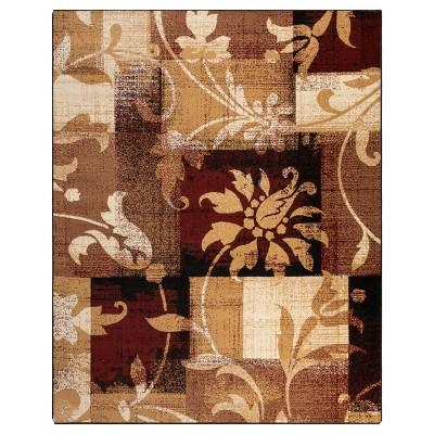 Floral Patchwork Non-Slip Indoor Area Rug or Runner - Blue Nile Mills